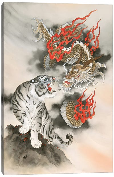 Guardians Of The East And West Canvas Art Print