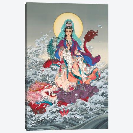 Kwan Yin Canvas Print #CYG23} by Caroline R. Young Art Print