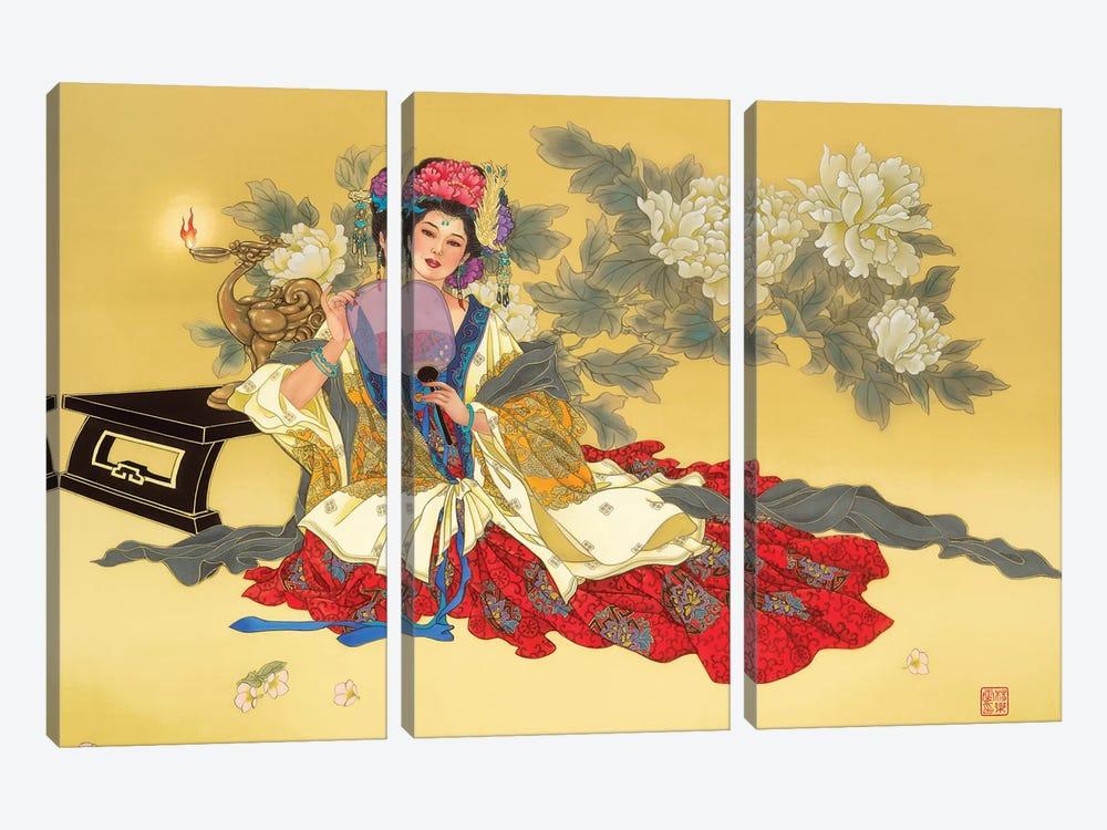 La Coquette by Caroline R. Young 3-piece Canvas Art Print