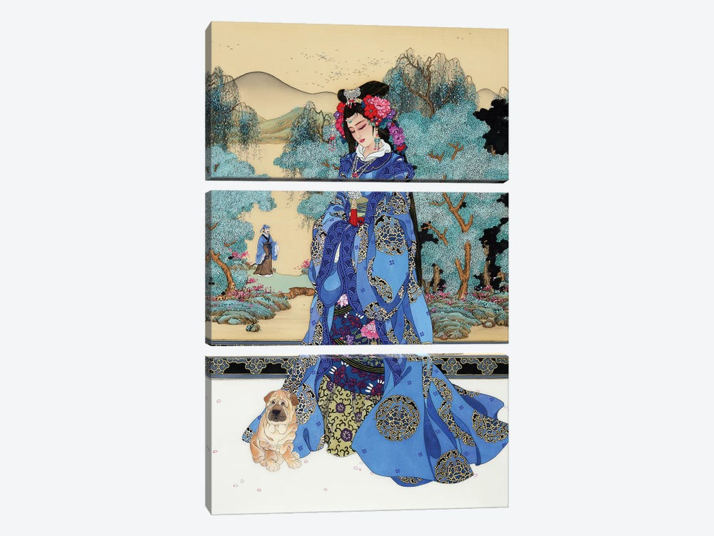 Lady Of Valor by Caroline R. Young 3-piece Canvas Artwork