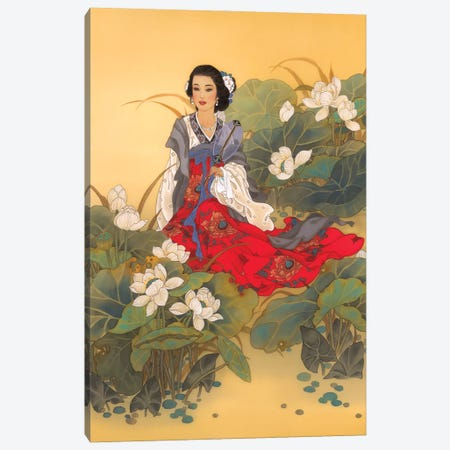 Lady Willow Canvas Print #CYG26} by Caroline R. Young Canvas Art