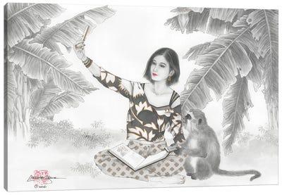 Monkey BFF Canvas Art Print