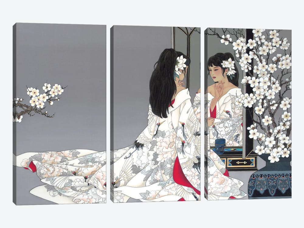 Reflections by Caroline R. Young 3-piece Canvas Art Print