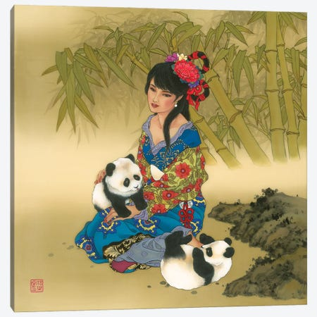 Wolong Valley Canvas Print #CYG49} by Caroline R. Young Art Print