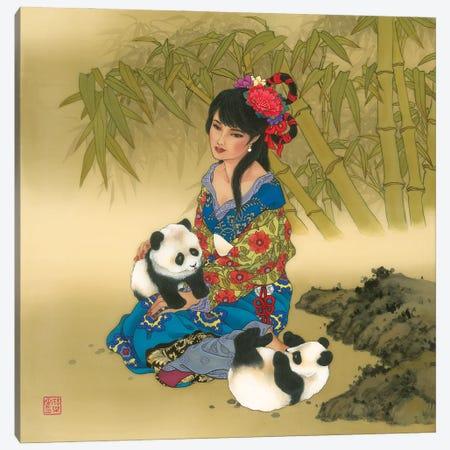 Wolong Valley Canvas Print #CYG49} by Caroline R. Young Art Print