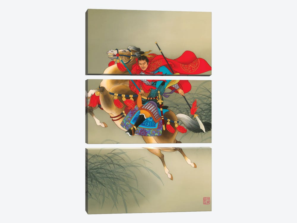 Yue Fei by Caroline R. Young 3-piece Canvas Art