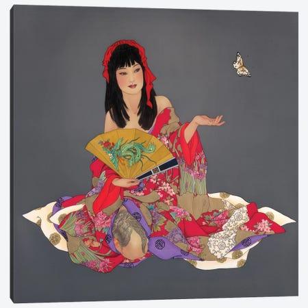 Phoenix Rising Canvas Print #CYG55} by Caroline R. Young Canvas Print