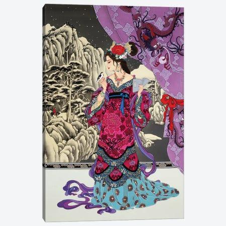 Black Jade Canvas Print #CYG7} by Caroline R. Young Canvas Artwork