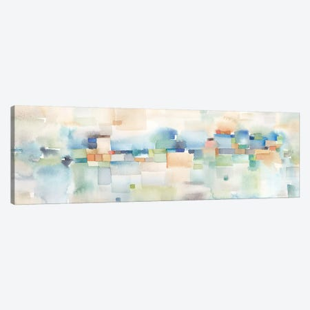 Teal Abstract Horizontal Canvas Print #CYN107} by Cynthia Coulter Canvas Art Print
