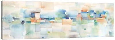 Teal Abstract Horizontal Canvas Art Print