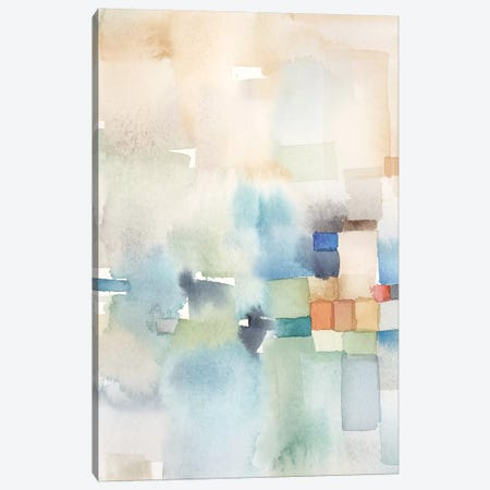 Teal Abstract Panel I Canvas Print #CYN108} by Cynthia Coulter Canvas Artwork