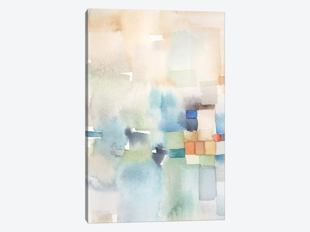 Teal Abstract Panel I by Cynthia Coulter 1-piece Canvas Print