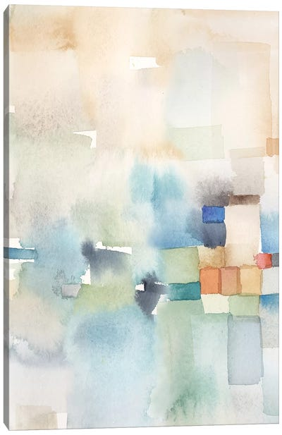 Teal Abstract Panel I Canvas Art Print