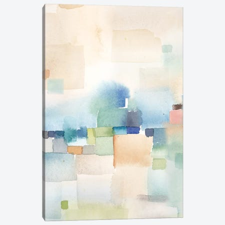 Teal Abstract Panel II Canvas Print #CYN109} by Cynthia Coulter Canvas Wall Art
