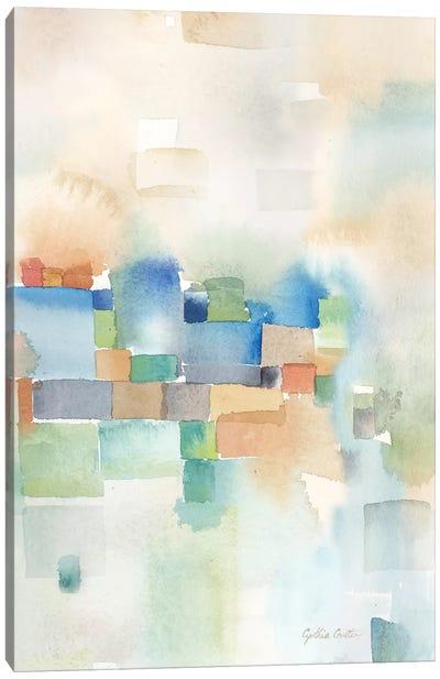 Teal Abstract Panel III Canvas Art Print