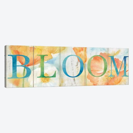 Watercolor Poppy Meadow Grow Sign Canvas Print #CYN116} by Cynthia Coulter Canvas Artwork