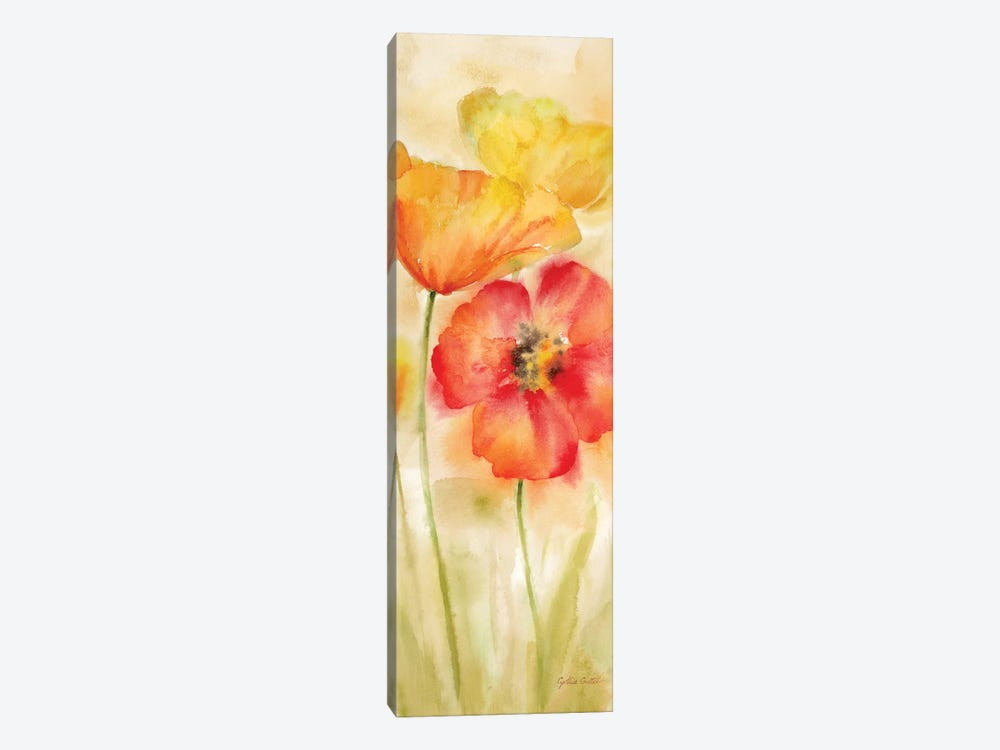 Watercolor Poppy Meadow Spice Panel I by Cynthia Coulter 1-piece Canvas Print