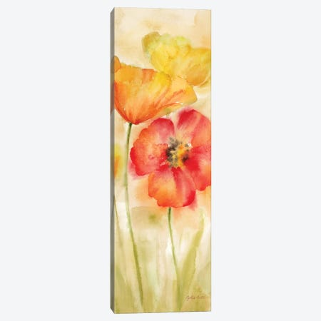 Watercolor Poppy Meadow Spice Panel I 3-Piece Canvas #CYN120} by Cynthia Coulter Canvas Art