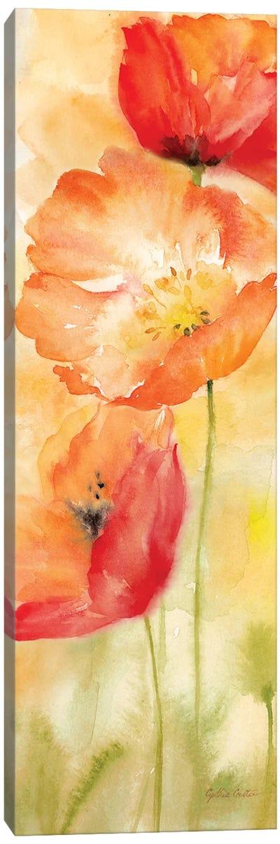 Watercolor Poppy Meadow Spice Panel II Canvas Art Print