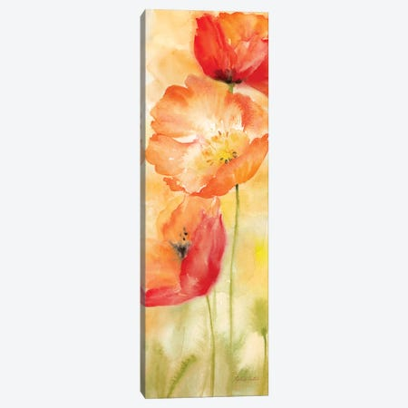Watercolor Poppy Meadow Spice Panel II 3-Piece Canvas #CYN121} by Cynthia Coulter Canvas Art