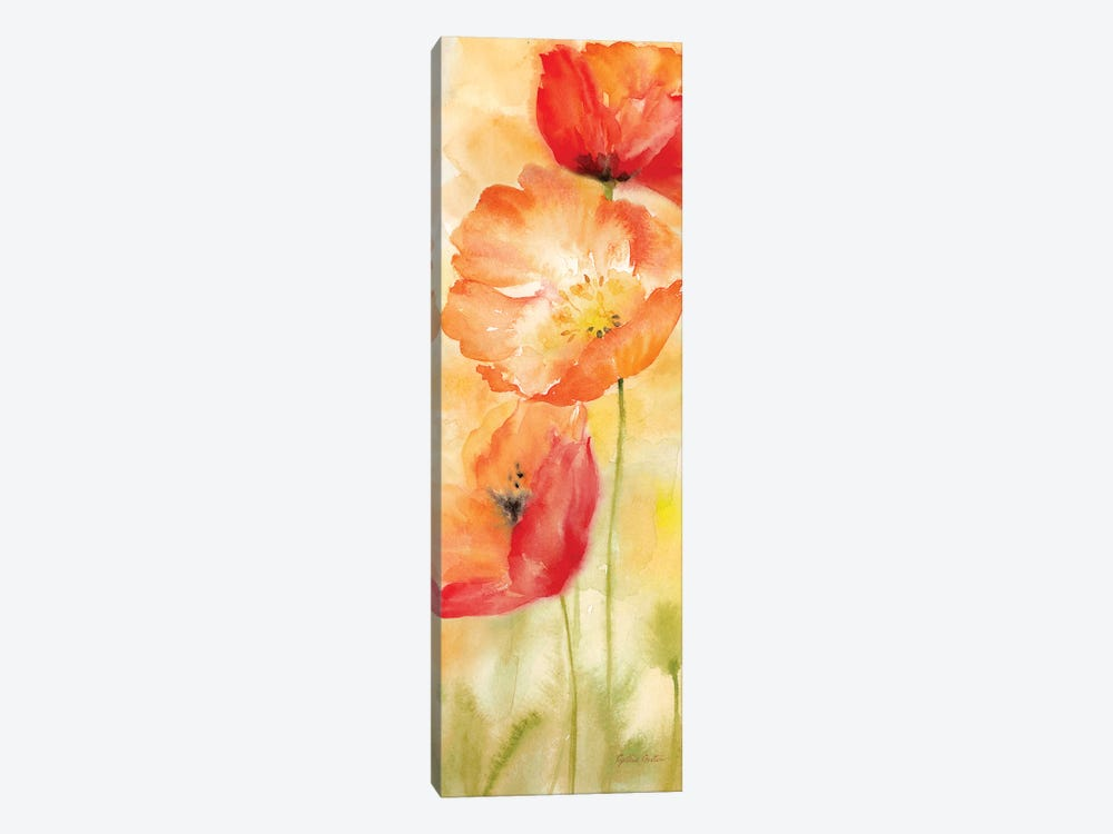 Watercolor Poppy Meadow Spice Panel II by Cynthia Coulter 1-piece Canvas Art