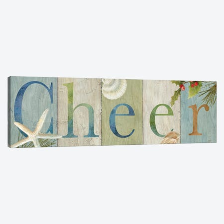 Cheer Coastal Sign II  Canvas Print #CYN122} by Cynthia Coulter Canvas Artwork