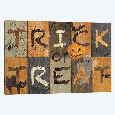Halloween Trick or Treat Canvas Print #CYN123} by Cynthia Coulter Canvas Artwork