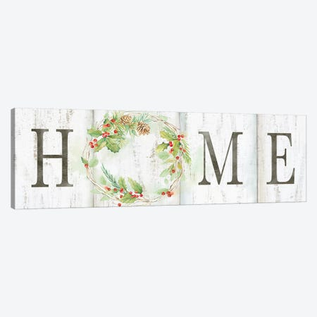 Holiday Wreath Home Sign Canvas Print #CYN127} by Cynthia Coulter Art Print