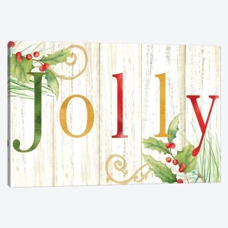 Jolly Whitewash Wood Sign Canvas Print #CYN132} by Cynthia Coulter Canvas Art Print