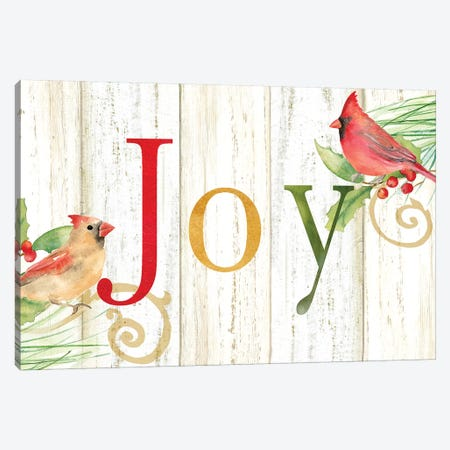 Joy Whitewash Wood Sign Canvas Print #CYN133} by Cynthia Coulter Canvas Print