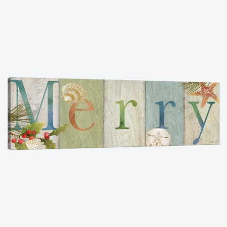 Merry Coastal Sign I  Canvas Print #CYN134} by Cynthia Coulter Canvas Art