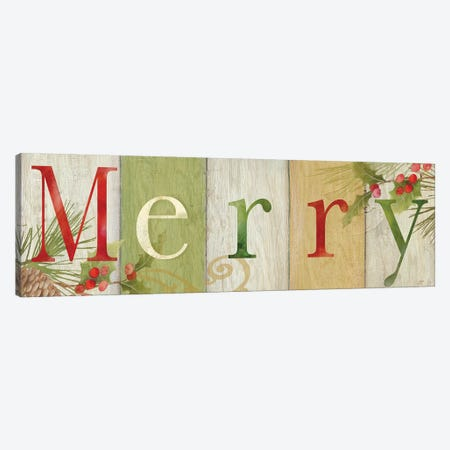 Merry Rustic Sign I Canvas Print #CYN135} by Cynthia Coulter Canvas Art