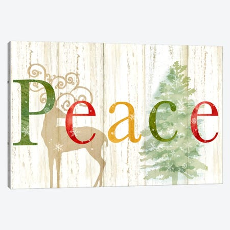Peace Whitewash Wood Sign Canvas Print #CYN140} by Cynthia Coulter Canvas Wall Art