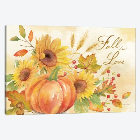 Welcome Fall - Fall in Love Canvas Print #CYN141} by Cynthia Coulter Canvas Wall Art