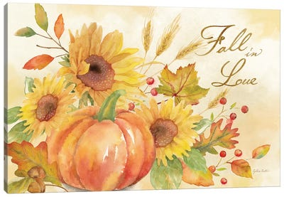 Welcome Fall - Fall in Love Canvas Art Print
