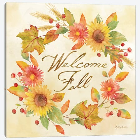 Welcome Fall  -Be Grateful Canvas Print #CYN143} by Cynthia Coulter Canvas Wall Art