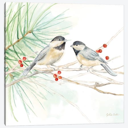 Winter Birds - Chickadees Canvas Print #CYN146} by Cynthia Coulter Canvas Art Print