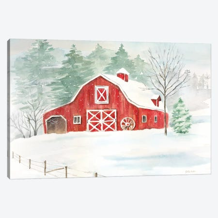 Winter Farmhouse Canvas Print #CYN149} by Cynthia Coulter Canvas Art
