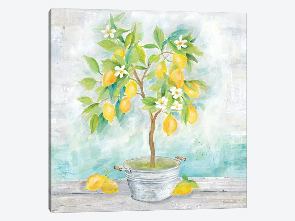 Country Lemon Tree by Cynthia Coulter 1-piece Art Print