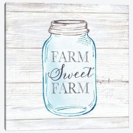 Farmhouse Stamp Mason Jar Canvas Print #CYN155} by Cynthia Coulter Canvas Art
