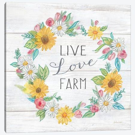 Farmhouse Stamp Wreath Canvas Print #CYN158} by Cynthia Coulter Canvas Print
