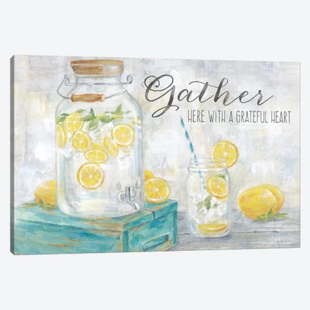 Gather Here Country Lemons Landscape Canvas Print #CYN159} by Cynthia Coulter Canvas Print