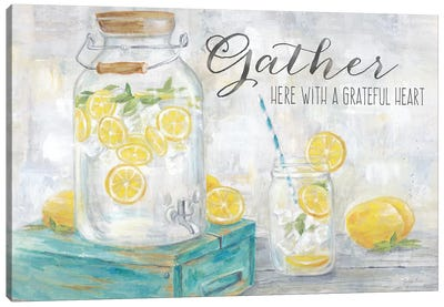 Gather Here Country Lemons Landscape Canvas Art Print