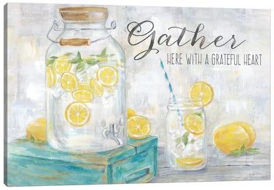Gather Here Country Lemons Landscape Canvas Art Print