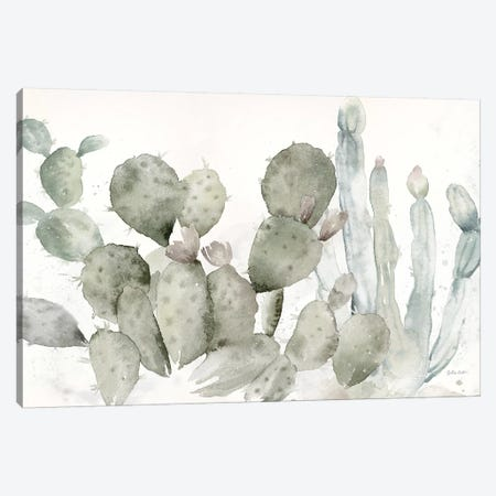 Cactus Garden Landscape Black & White 3-Piece Canvas #CYN15} by Cynthia Coulter Canvas Artwork