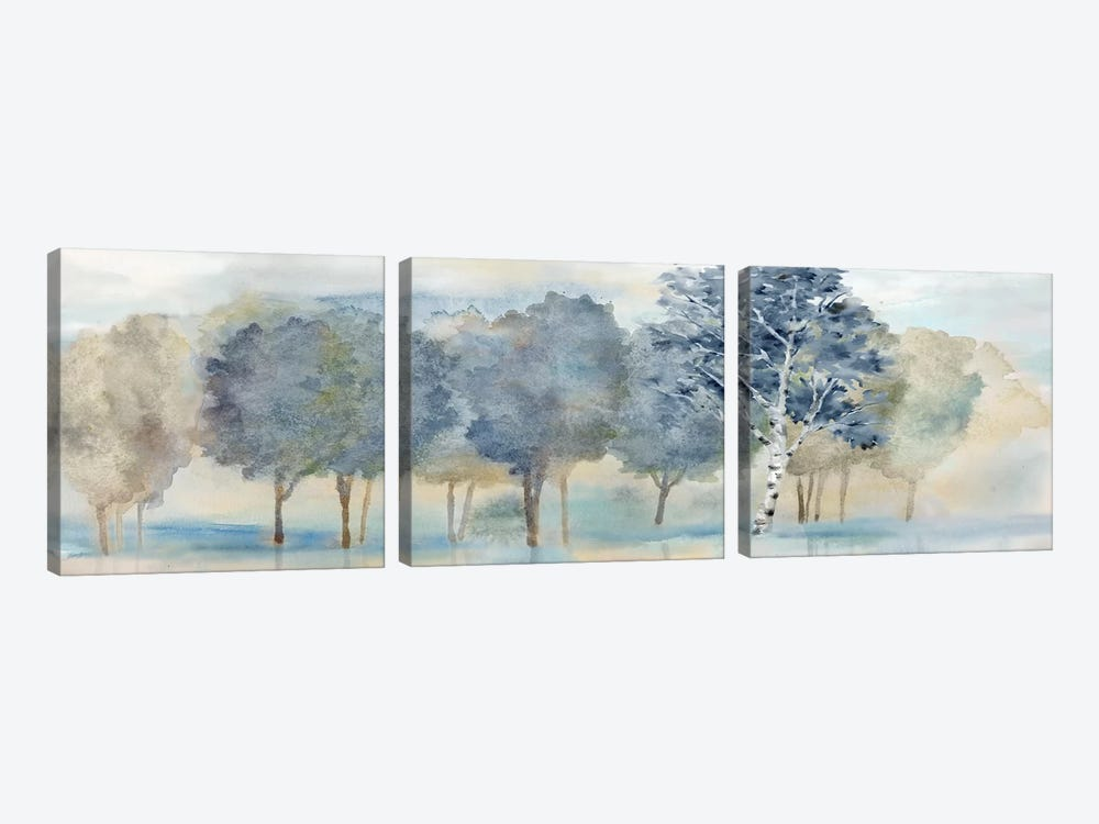 Treeline Reflection Panel by Cynthia Coulter 3-piece Art Print