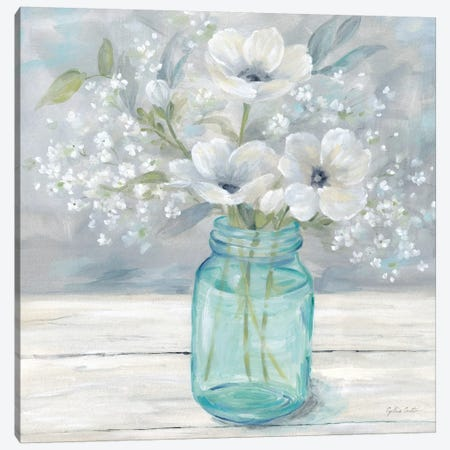 Vintage Jar Bouquet I Canvas Print #CYN165} by Cynthia Coulter Canvas Art Print