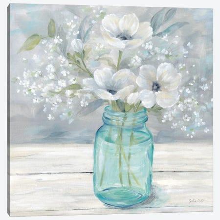 Vintage Jar Bouquet I Canvas Print #CYN165} by Cynthia Coulter Canvas Art Print