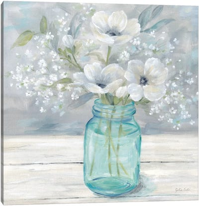 Vintage Jar Bouquet I Canvas Art Print