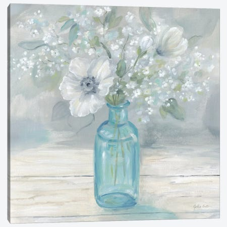 Vintage Jar Bouquet II Canvas Print #CYN166} by Cynthia Coulter Canvas Print